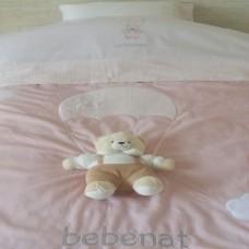 παπλωματα αλεξιπτωτο αρκουδακι ροζ