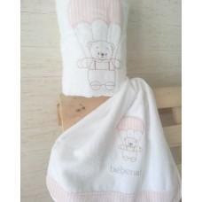 πετσετες σετ αλεξιπτωτο αρκουδακι ροζ